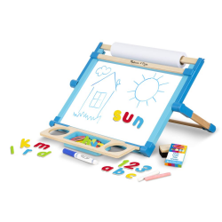 WOODEN DOUBLE SIDED TABLETOP EASEL (EA)