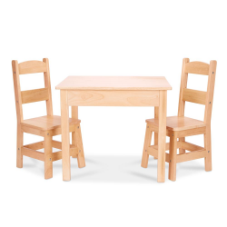WOODEN TABLE & CHAIRS SET (1)